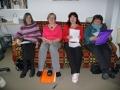No kreisās: Rita, draudzes priekšniece Rūta, Anita un Valda