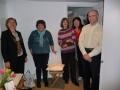 No kreisās: Ārija, Valda, Rita, Anita un Aivars