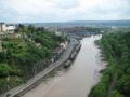 Skats uz Bristoli no Kliftonas vanšu tilta