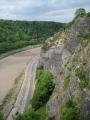 Augstās klintis skatoties no Kliftonas vanšu tilta