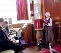 Sandra Muceniece lasa vecās derības lasījumu