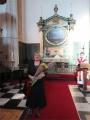 Šodien dzimšanas diena bija arī daudzgadējai bijušajai draudzes priekšniecei Rūtai Abakukai
