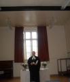 Dievkalpojums notika St. Peter's centrā un to vadīja mācītājs Viesturs Vāvere