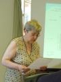 Līdsas draudzes ziņojumu lasa Līvija Upmale