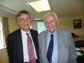 Prāvests Andris Abakuks un prāvests emeritus Juris Jurģis