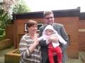 LR vēstnieks Apvienotā Karalistē Eduards Stiprais ar sievu Zandu un meitu Annu