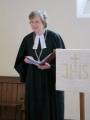 Dievkalpojumu ievada Ziemeļanglijas-Bradfordas draudzes mācītāja Gita Putce