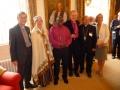 Prāv. Dr. Andris Abakuks, Rūta Abakuka, Jorkas archibīskaps Dr. John Sentamu, archibīskaps Elmārs Ernsts Rozītis, Anglijas baznīcas Eiropas diecēzes palīgbīskaps David Hamid, Vera Rozīte.